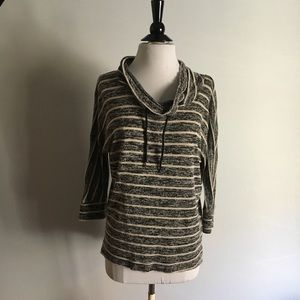 FRENCH LAUNDRY Stripped Cowl Neck Top Size M